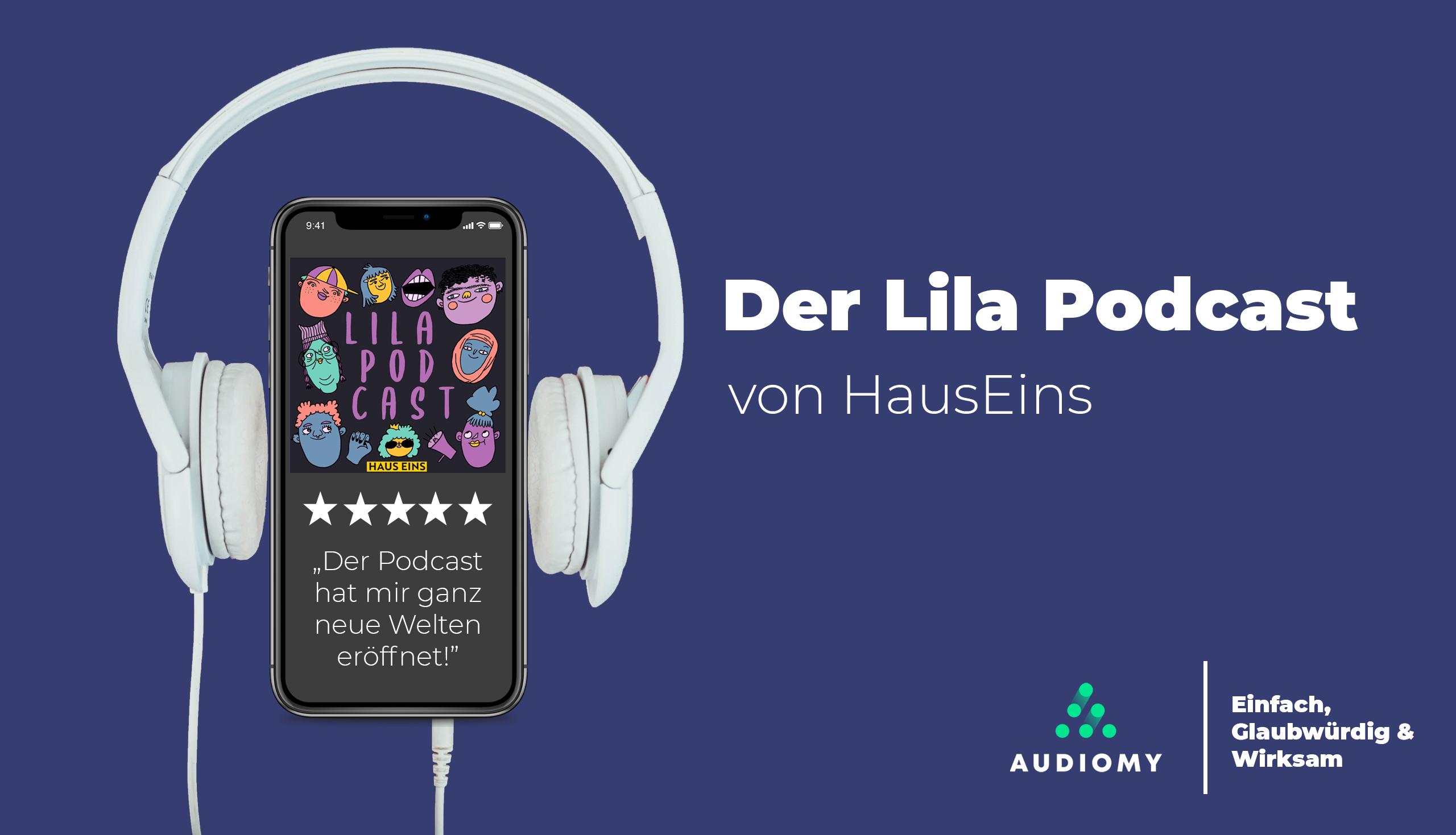 Podcast, Lila, Kopfhörer